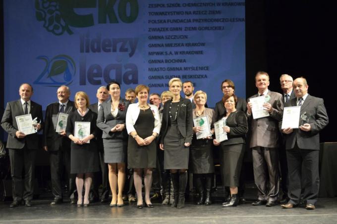 "Nagrodzeni wkonkursie ""Eko-liderzy 20-lecia"" - fot.e-niepolomice.pl"