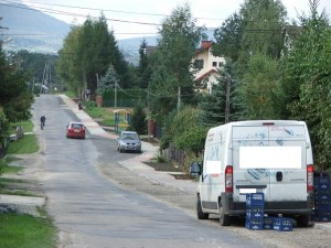 Ulica Sosnowa wpaździerniku 2013 r. - fot.Urząd Miejski wGorlicach