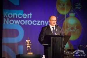 Witold Kochan podczas Spotkania Noworocznego 2014
