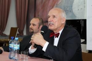 Prezes Janusz Korwin-Mikke iSzymon Jamro - kandydat doparlamentu Europejskiego