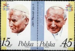 Znaczek zJanem Pawłem II - fot.Katalogznaczkow.net