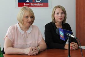 Poseł Barbara Bartuś iszefowa Forum Młodych PiS Joanna Piechowicz