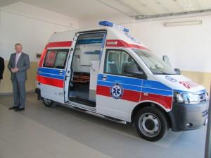 Ambulans wBieczu - fot.Starostwo Powiatowe wGorlicach