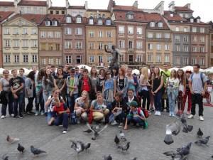 Uczestnicy wycieczki wycieczce doWarszawy zorganizowanej przezStowarzyszenie Przyjaciół Wsi Sędziszowa iOkolic