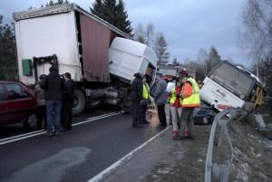 Wypadek wLubli - fot.PAP