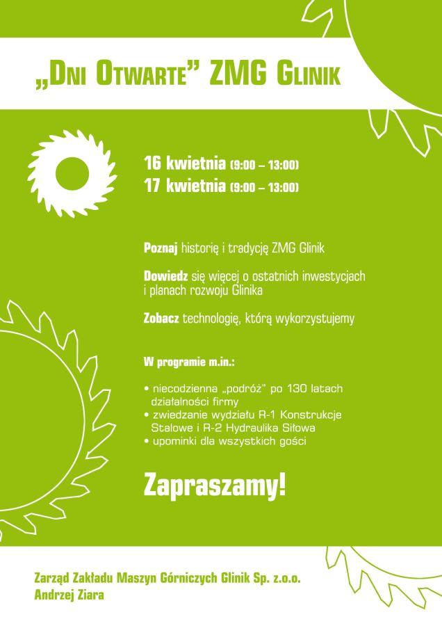 zaproszenie naDni Otwarte wZMG Glinik-1