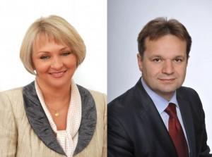 Poseł Barbara Bartuś iRadny Paweł Śliwa