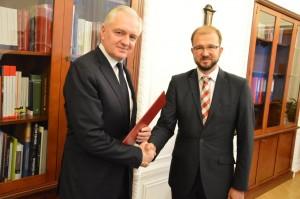Jarosław Gowin iPiotr Dardziński - fot.Ministerstwo Nauki iSzkolnictwa Wyższego