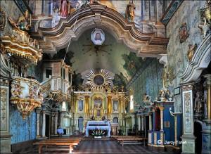 Drewniany, barokowy kościółek zXVIII wieku wSzalowej - miejsce chrztu Franciszka Bary